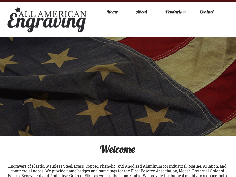 All American Engraving Website Design