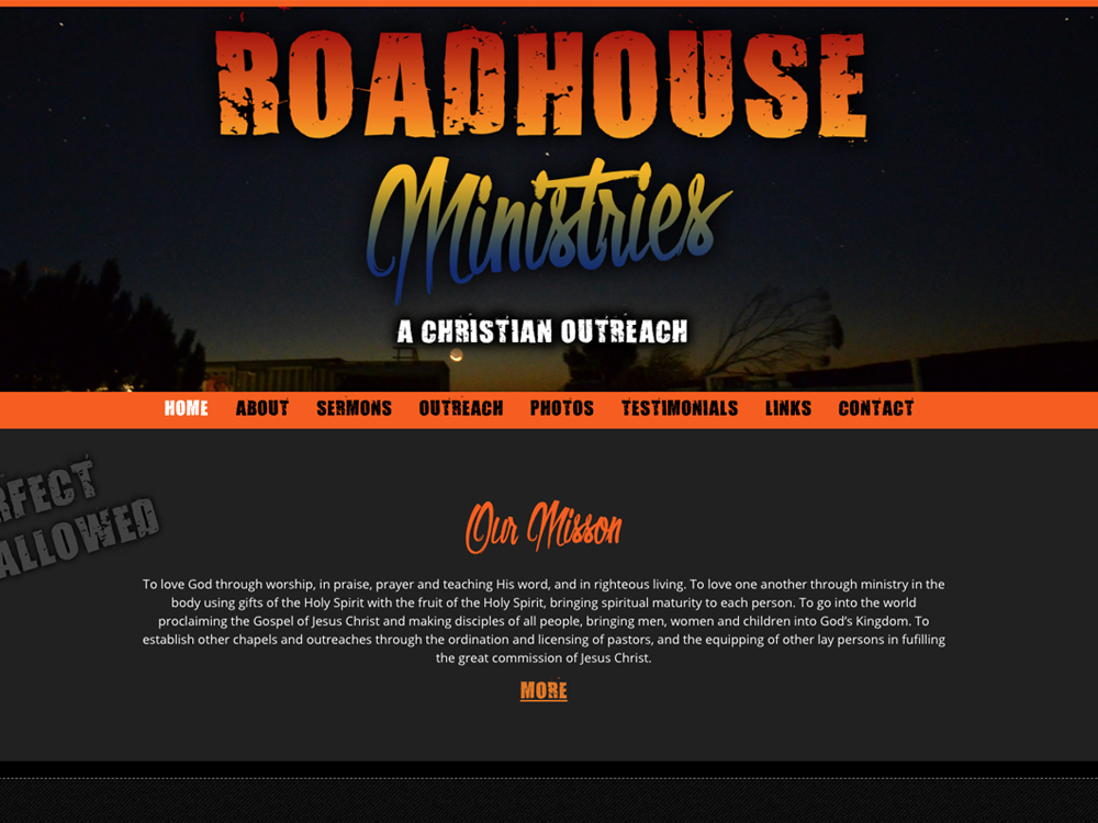 Roadhouse ministries website design